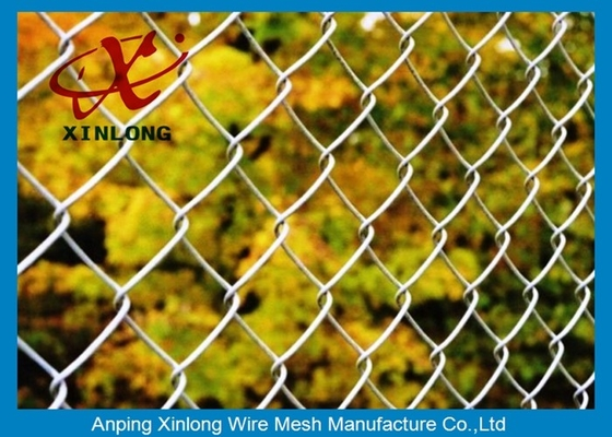 School Chain Link Fence / Hot Dipped Galvanized Chain Link Security Fence